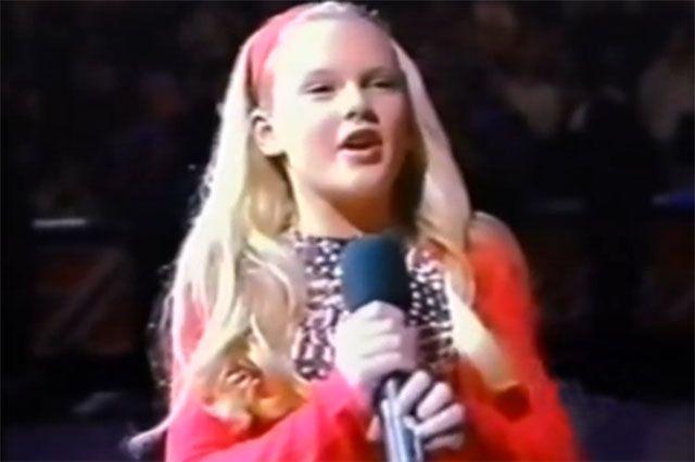 Taylor Swift a 12 anni Inno nazionale