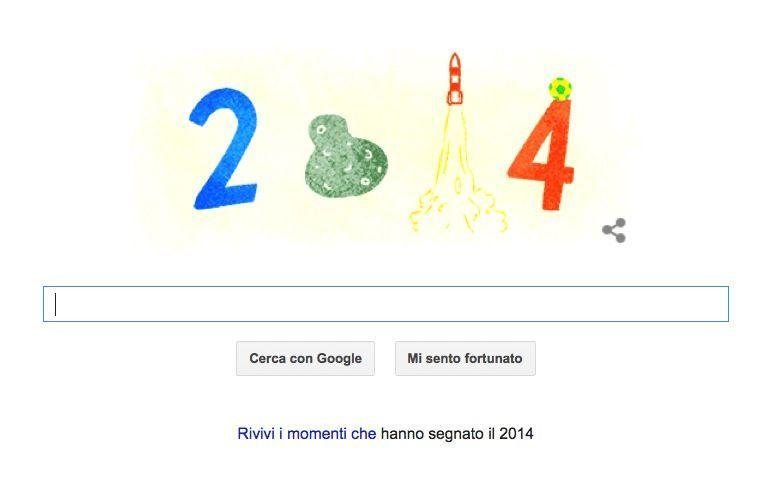 Google Doodle con gli argomenti di tendenza del 2014
