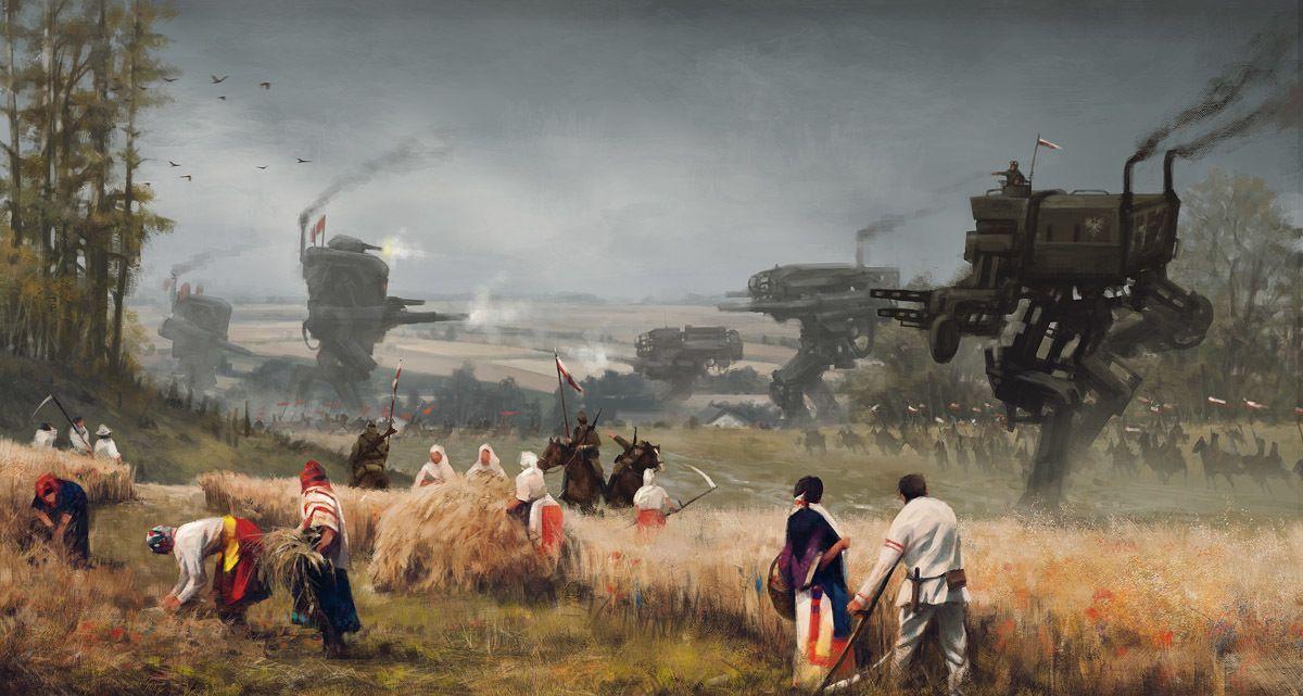 Jakub Rozalski: il pittore dei paesaggi e dei robot giganti
