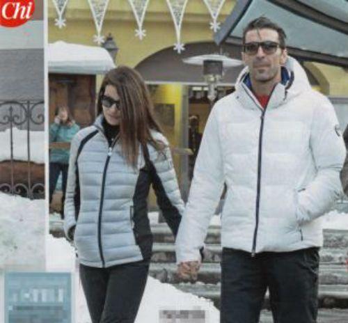 Ilaria D'Amico e Gigi Buffon a Courmayeur per le vacanze di Natale