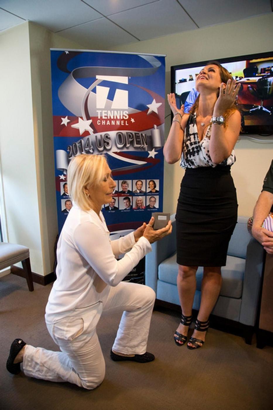 Martina Navratilova e Julia Lemigova, matrimonio a New York per la tennista