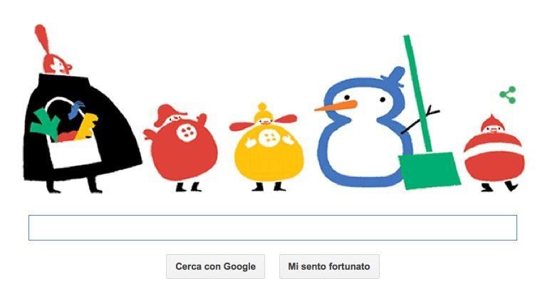 Solstizio d'Inverno nel Google Doodle del 21 dicembre