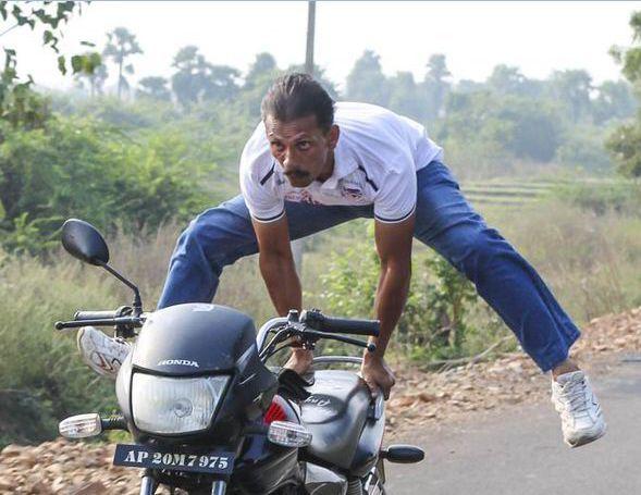 Yoga on bike