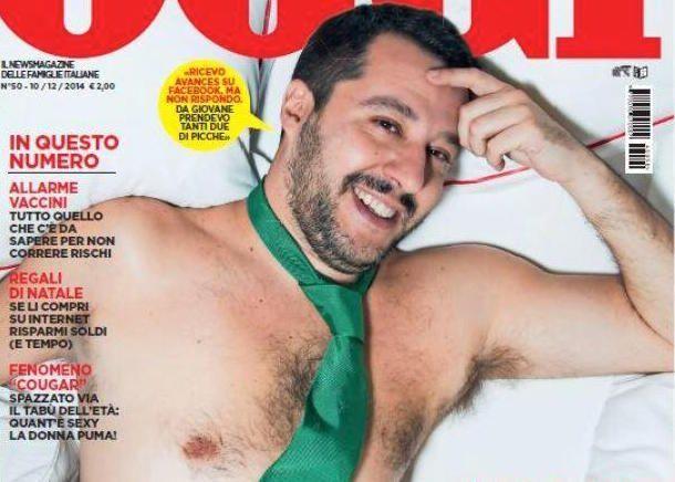 Matteo Salvini desnudo sulla copertina di Oggi: l'ironia del web