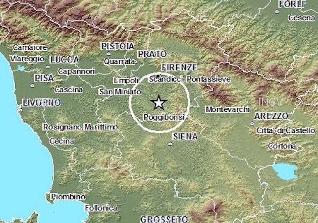 Terremoto in Toscana: forti scosse a Firenze, epicentro nella zona del Chianti