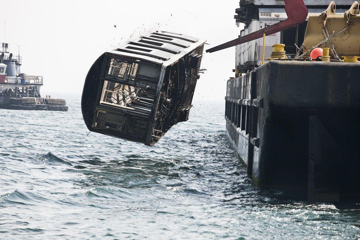 carrozza in mare