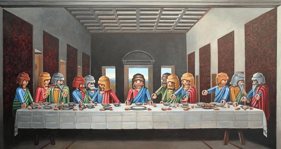 Quadri e Playmobil: quando l'Arte incontra lo svago