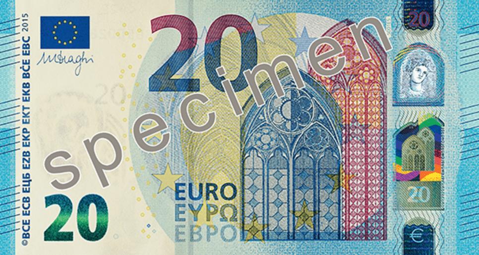 Nuovi 20 euro: presentata la banconota in circolazione dal 25 novembre