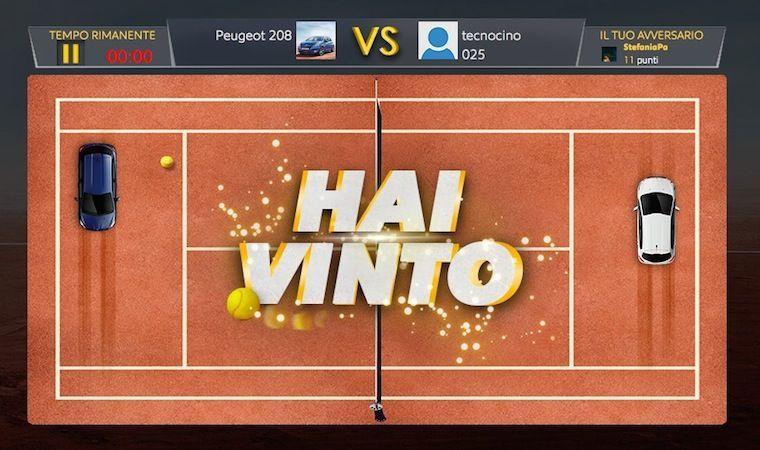 Peugeot 208 Djoko Pong: gioca e vinci il Roland Garros