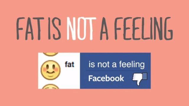 Facebook rimuove lo status Mi sento grasso