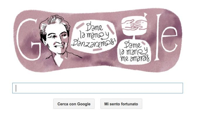 Doodle per Gabriela Mistral, prima donna latinoamericana premio Nobel