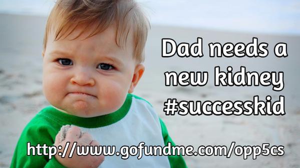 Il papà di Success Kid ha bisogno di un rene: scatta la solidarietà online