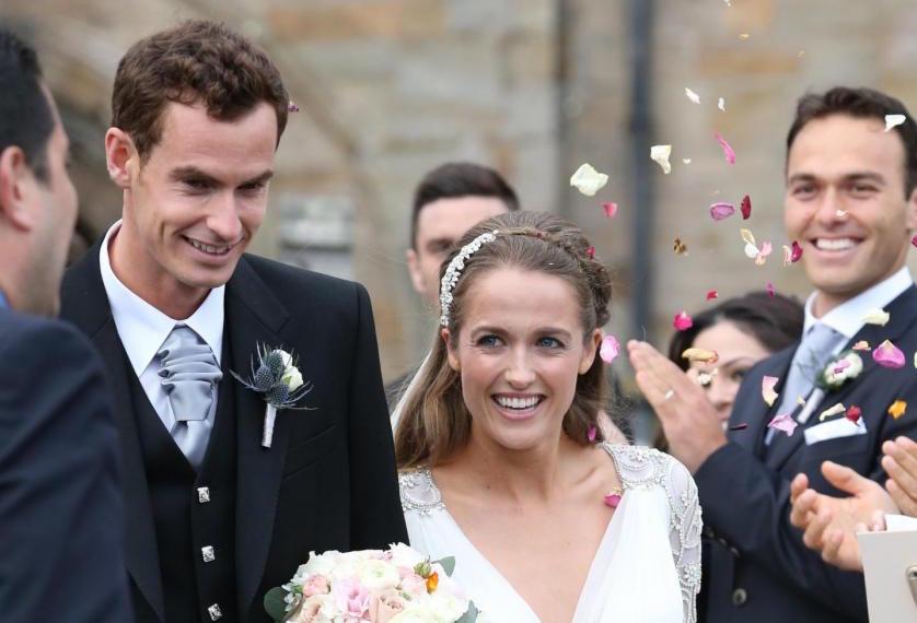 Andy Murray e Kim Sears sposi: il matrimonio del tennista in kilt con la sua fidanzata storica