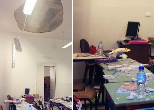 Crollo nella scuola elementare di Ostuni: la Procura avvia un'inchiesta