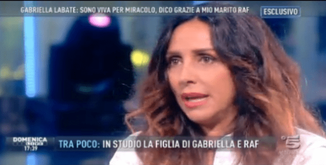 Gabriella Labate a Domenica Live: la moglie di Raf 'vittima di malasanità'