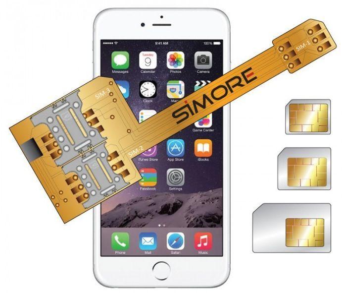 Cover per iPhone 6 che lo trasforma in un cellulare Triple-SIM