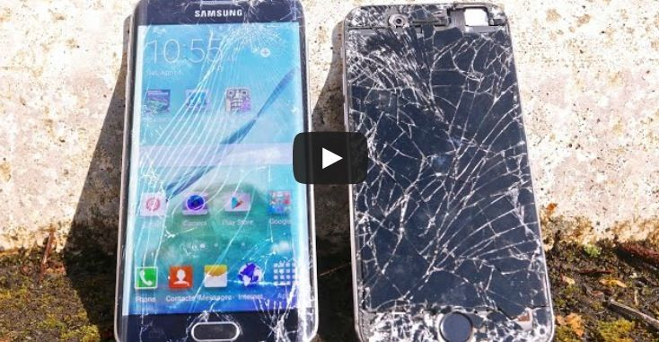 iPhone 6 vs Samsung Galaxy S6 Edge: sfida al crash test