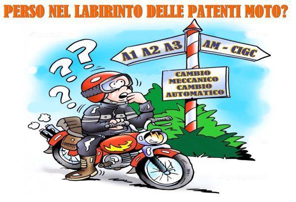 Patente A1 e AM moto e scooter: la novità