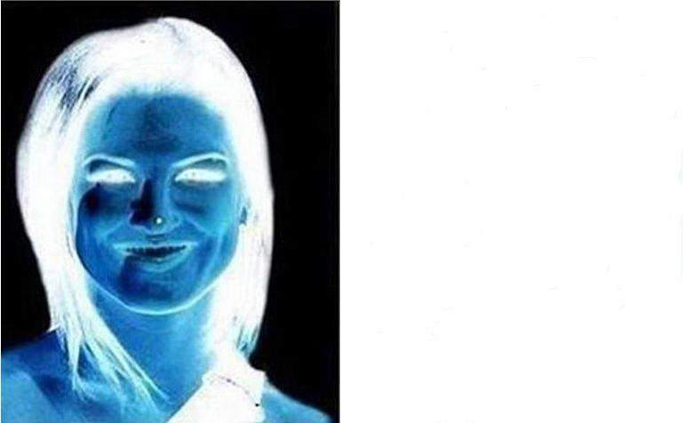 L'illusione ottica del volto in negativo che diventa a colori