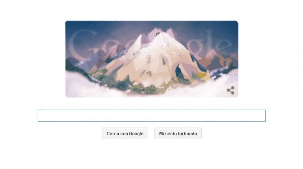 Google Doodle per la prima ascensione del Monte Bianco
