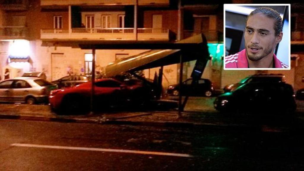Martin Caceres si schianta ubriaco con la sua Ferrari, patente ritirata