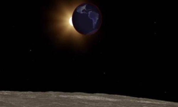 eclissi dalla luna
