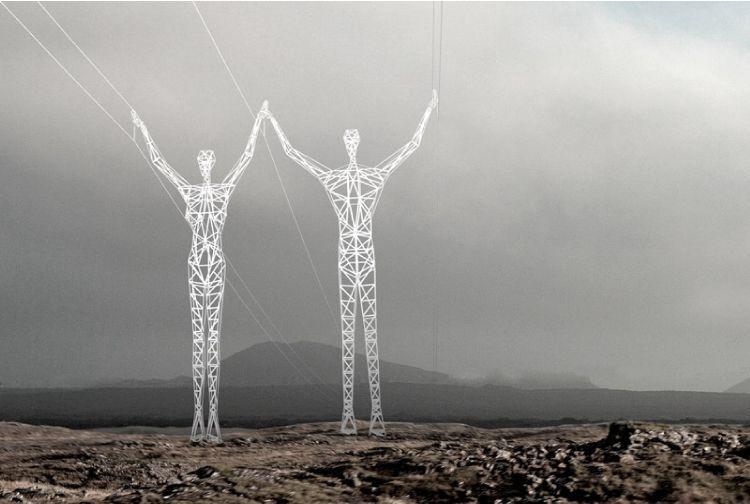Piloni elettrici artistici, tralicci 'poetici' che portano luce abbellendo il paesaggio