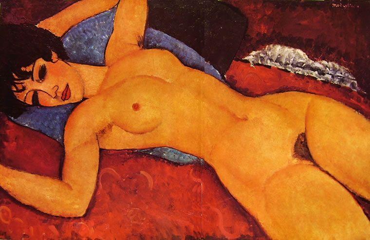 Modigliani, Nudo sdraiato