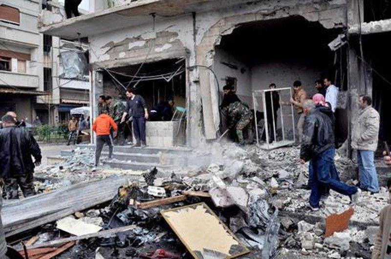 Siria mercato distrutto da raid russo