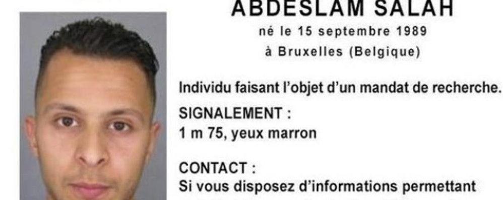 La segnalazione della Polizia su Salah Abdeslam