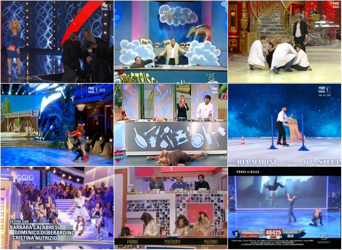 Cadute tv italiana divertenti vip 2015