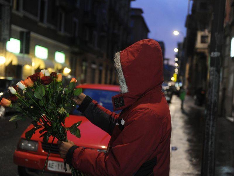 Uomo delle rose