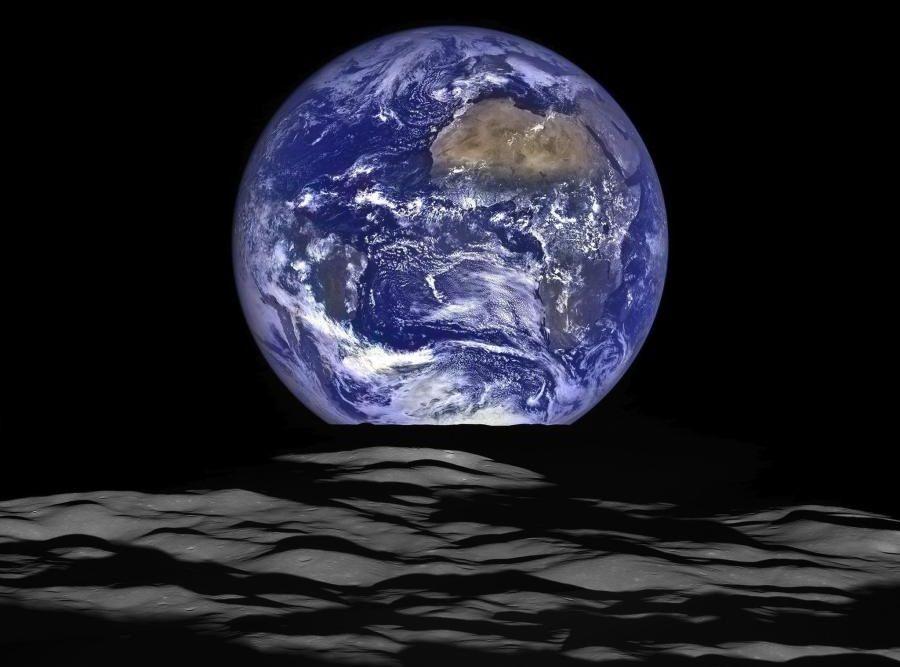 terra orizzonte luna