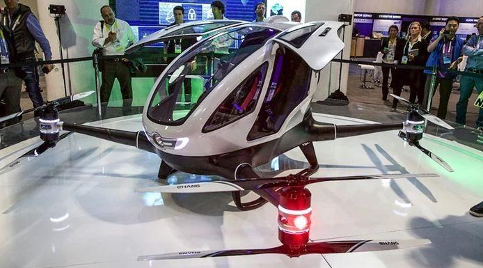 drone con passeggero