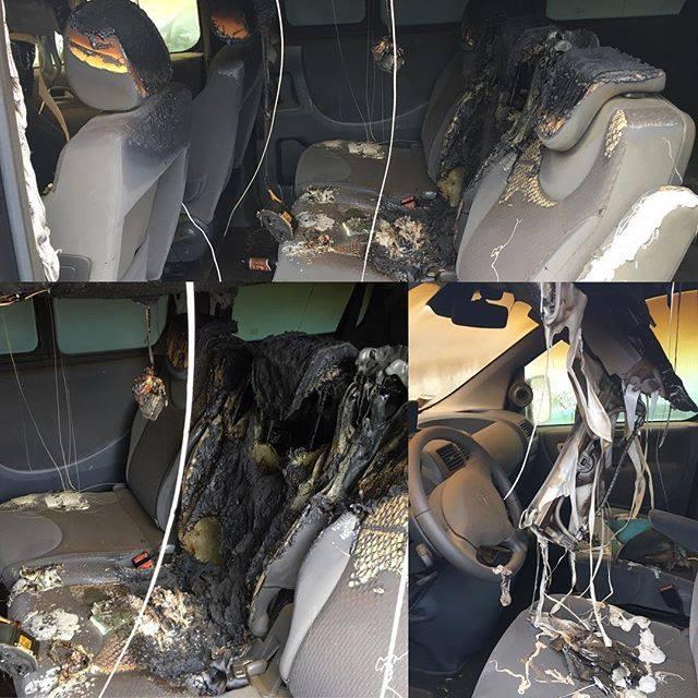 L'auto bruciata di Clementino