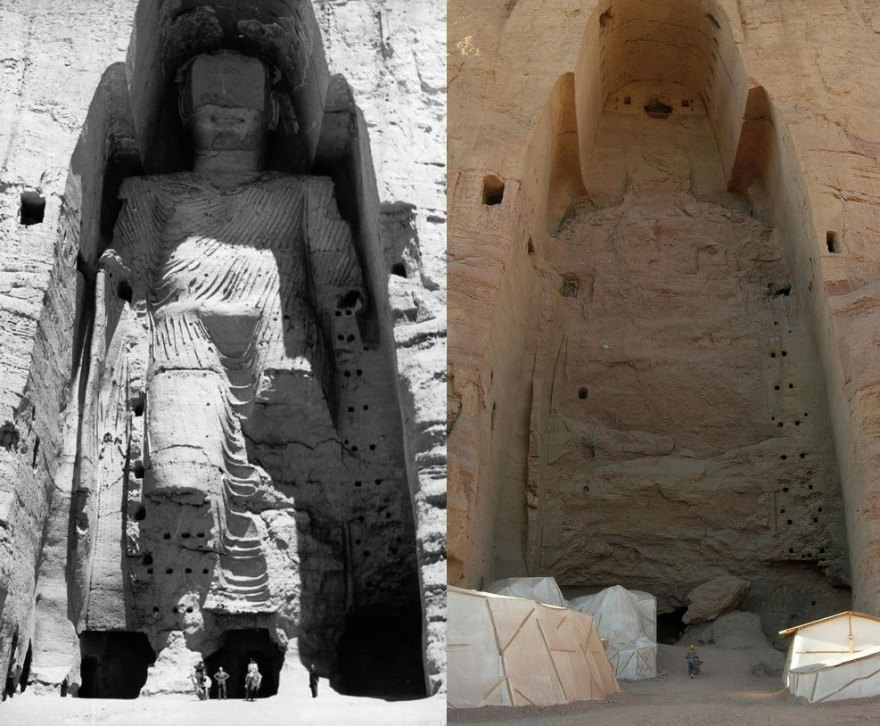 Buddha di Bamiyan, prima e dopo