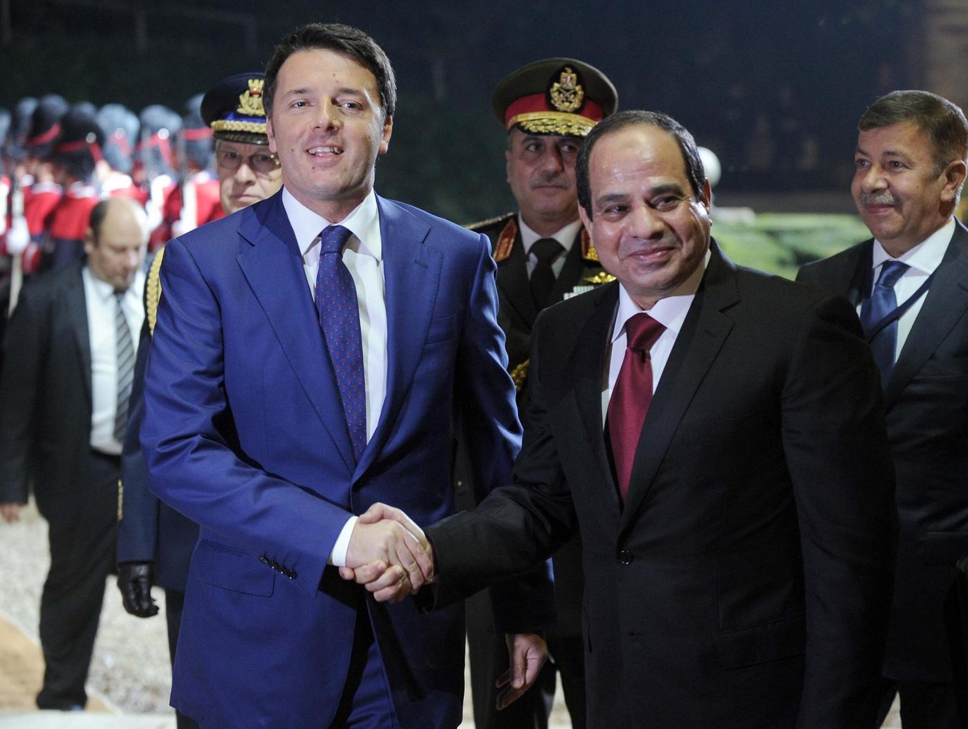 Matteo Renzi riceve il Presidente egiziano Abdel Fattah Al Sisi