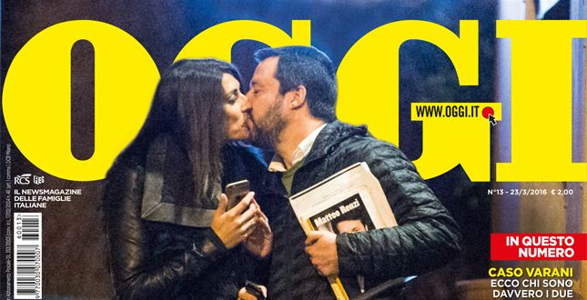 Matteo Salvini ed Elisa Isoardi stanno insieme: il bacio che non ti aspetti