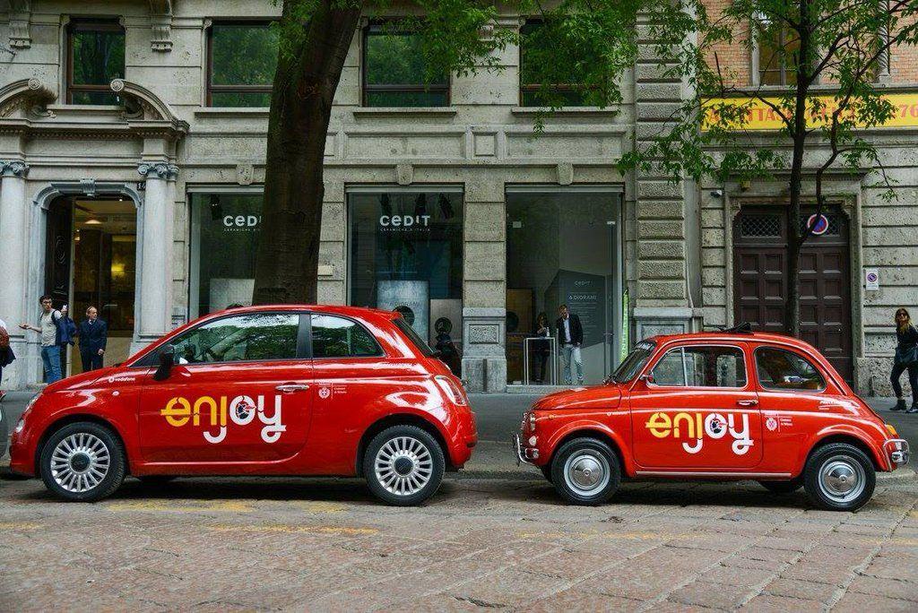 Fiat 500 enjoy milano design week