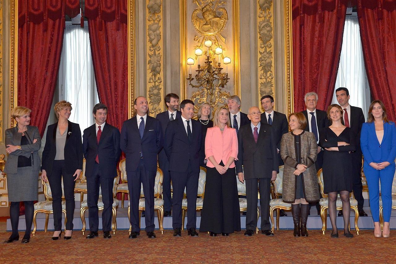 Giuramento del Governo Renzi al Quirinale