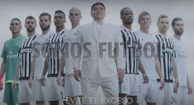 Maradona in un spot per salvare il calcio