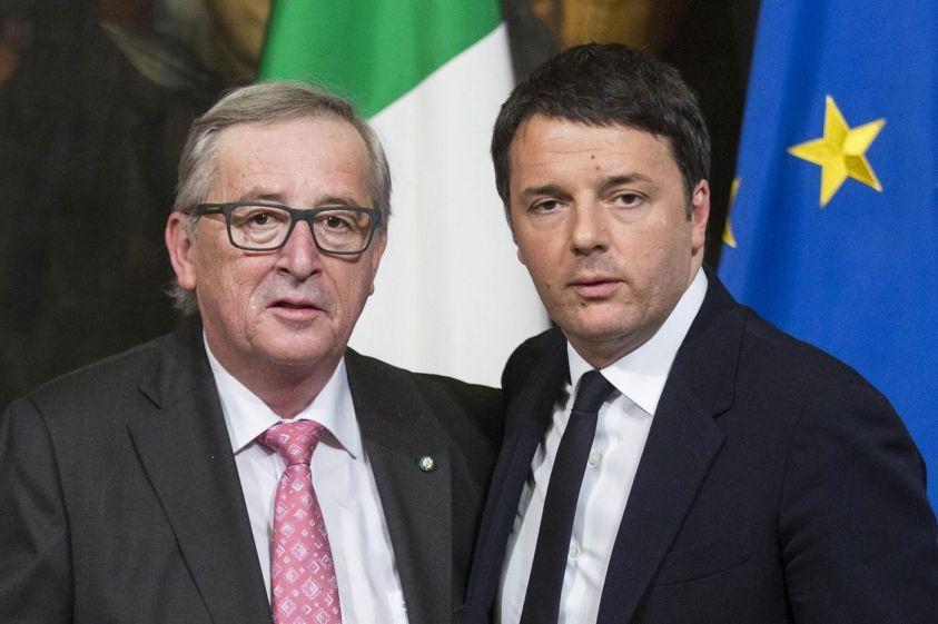 Matteo Renzi e Jean Claude Junker