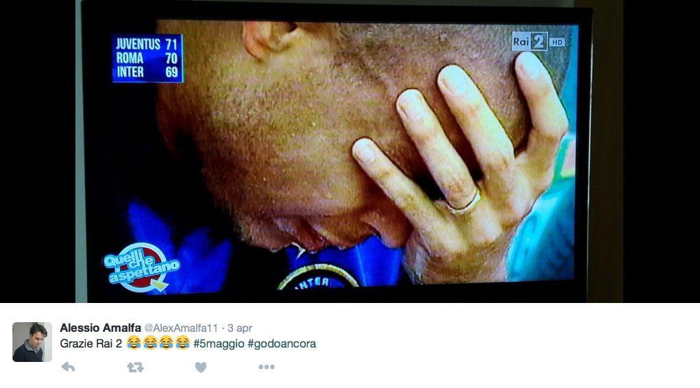 Ronaldo che piange disperatamente