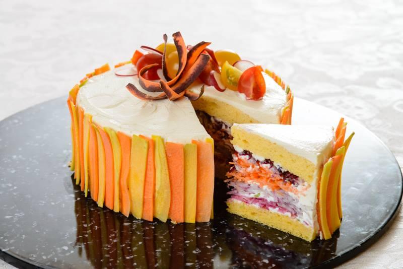 salad cake carote