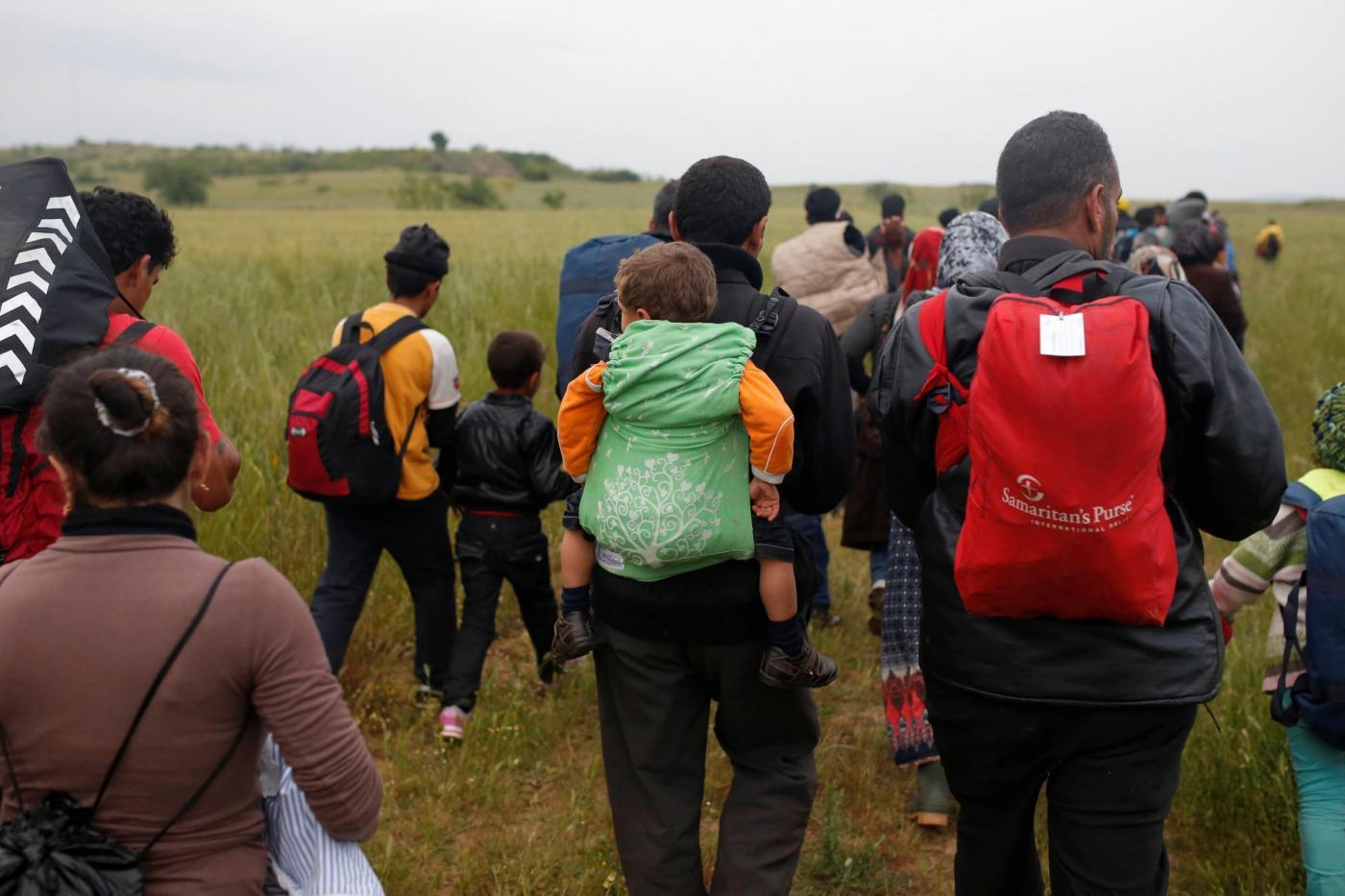 Migranti al confine greco macedone