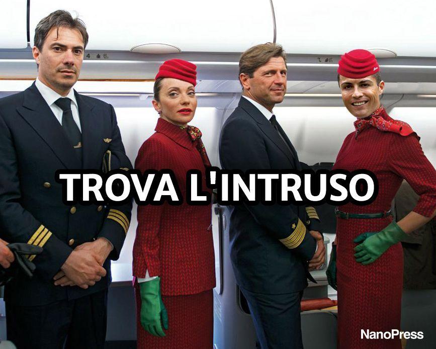 Cristiano Ronaldo meme Alitalia