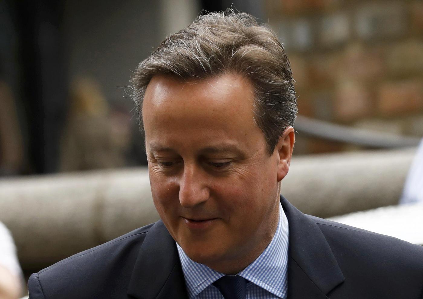 Brexit, il premier David Cameron al voto per il referendum
