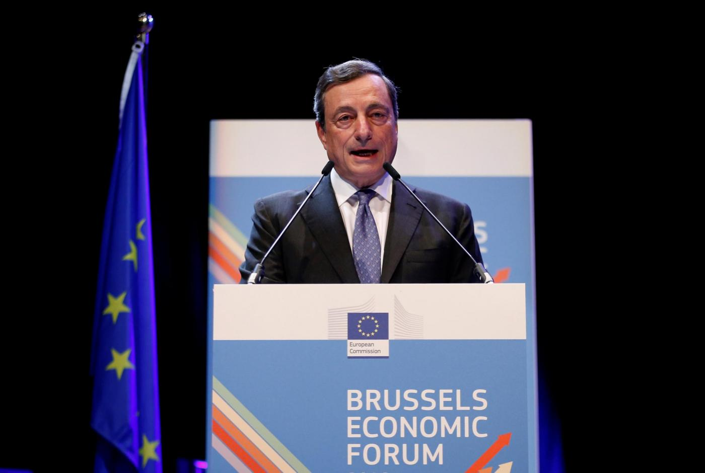 Bruxelles, l'intervento di Mario Draghi all'Economic Forum