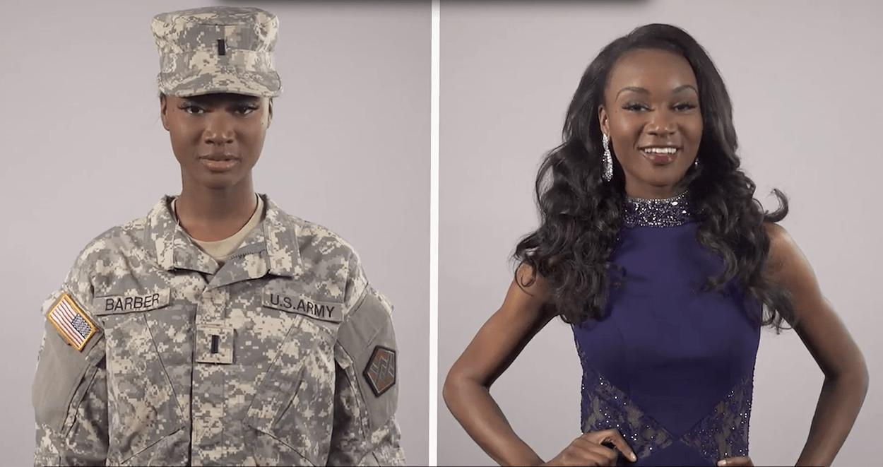 Miss america, soldatessa esercito