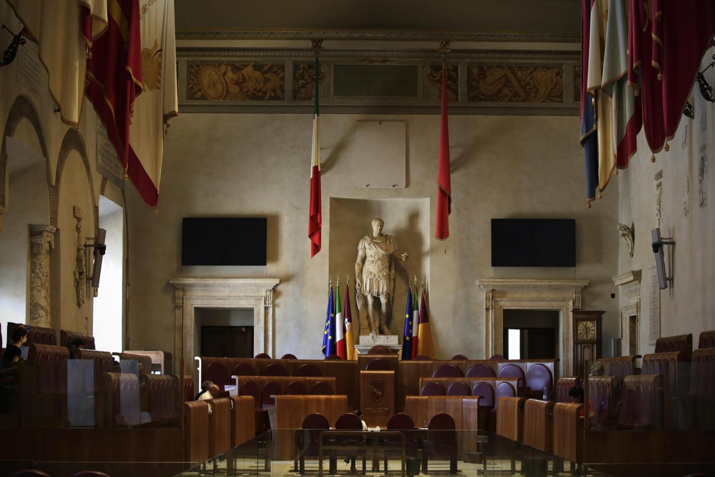 Roma, la Sala delle Bandiere in Campidoglio